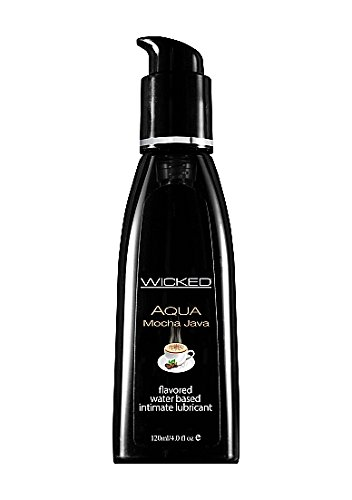 Wicked Sensual Care Wicked Aqua Flavored Water Based Lubricant, Mocha Java, 4 Ounce by Wicked Sensual Care