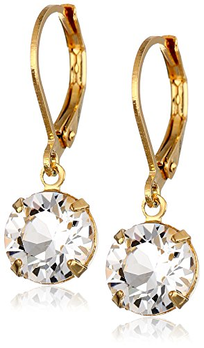 1928 Jewelry Swarovski Lever Back Earrings
