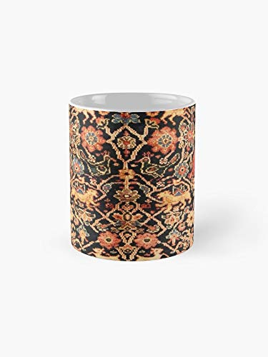 Antiques Persian Vase - Antique Persian Vase Rug With Animals 11oz Mug - Great gift for family and friends.