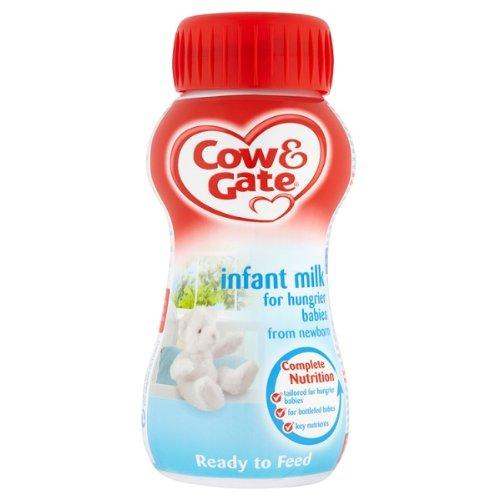 Cow & Gate Infantil Leche para bebés más hambre de 200ml recién nacido (paquete de