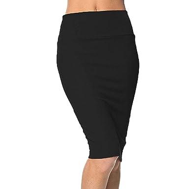 3568a56df7 Amazon.com: SOWU Women Mini Skirt Ladies Fashion Elegant High Waist Tight  Waist Half-Length Casual Mini Pencil Skirt: Clothing
