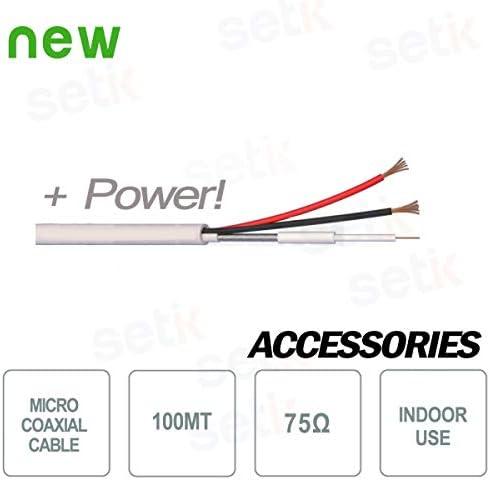 Setik - Cable micro coaxial compuesto 100MT 75 OHM + 2X0,50 ...