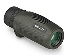 High-quality, compact solo monocular 25mm objective lens diameter 8x power and 10mm eye relief 430-foot field of view at 1000 yards Nitrogen-purged, fogproof and waterproof.