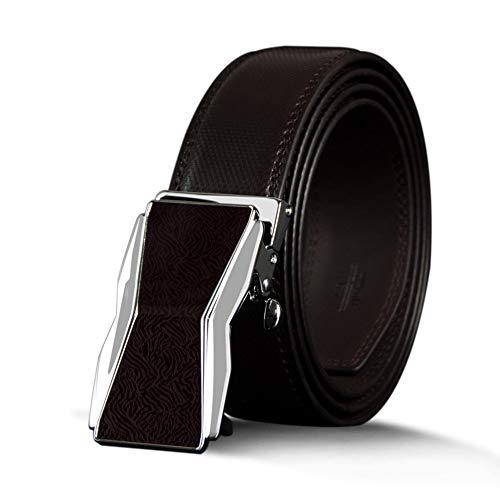 Hebilla Cuero 130 Hombre De Cinturón Vintage 120cm Cinturones Hombre Correa Masculina Automática Para Cm Lllm Aleación OqH8tt