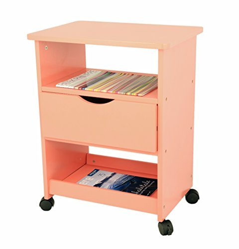 Frenchi Home Furnishing Rolling Cart with Drawer