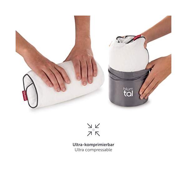 41kVOdlIahL Blumtal Visco-Schaum Reisekissen Memory Foam - Reise Nackenkissen mit Tasche, komprimierbar, ideales Camping Kopfkissen…