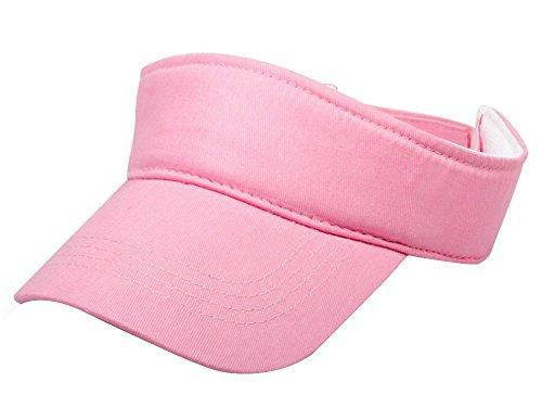 Eforstore Kids Children Deluxe Cotton Visor Topless Sun Hat Summer Outdoor Baseball Golf Caps (Pink)