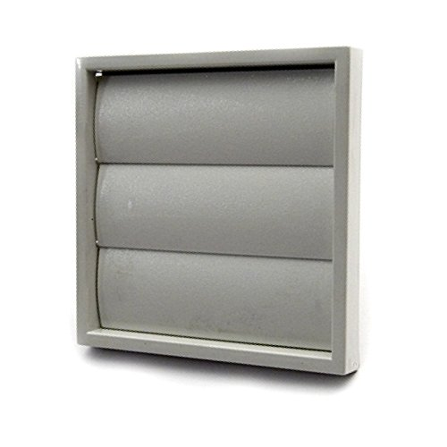 Grey Square Extractor Air Vent Duct Grille 100mm / 4 Inch Wall Fan Gravity Flap low-cost