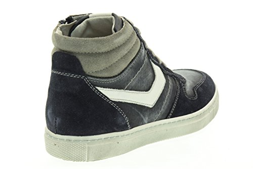 BLACK JARDINES adolescente altas zapatillas de deporte A633990M / 200 (35/39) Blu-bianco
