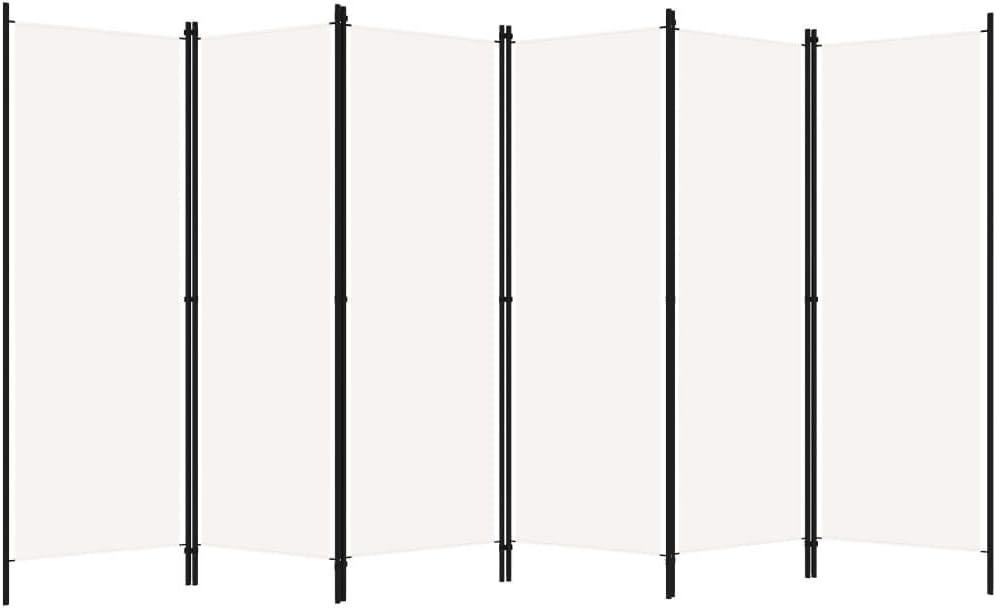 vidaXL 6 pezzi 300 x 180 cm Divisorio colore: Bianco