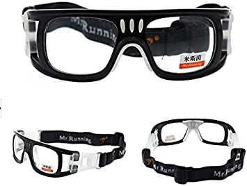 Nihao Wrap Goggles Sports Glasses Eyewear Basketball Soccer with Case (Black) - - Amazon.com