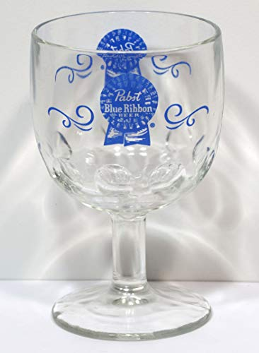 Pabst Blue Ribbon Beer thumb print goblet for sale  Delivered anywhere in USA