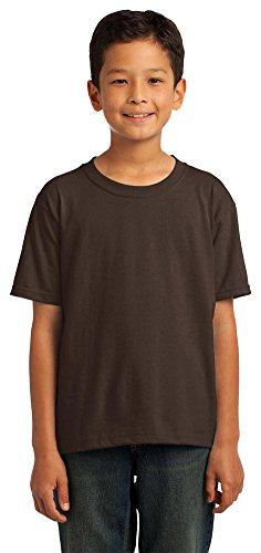 Fruit of the Loom Youth 5 oz., 100% Heavy Cotton HD T-Shirt (3931B)- (Chocolate Heavy Cotton T-shirt)