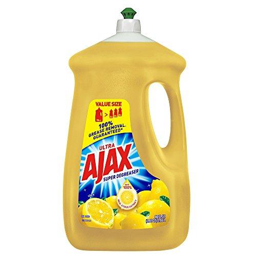 Ajax Super Degreaser Lemon Dishwashing Liquid, 90 fl oz (1) (90 Fl Oz) (90 Fl Oz)