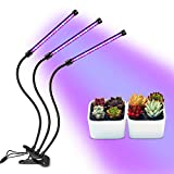 [2018 Newest] Plant Grow Lights, Homeasy LED Grow Lamp for Indoor Plants 27W 54 LED Bulbs with Red, Blue Spectrum, 3/6/12H Timer, 3-Head Adjustable Gooseneck for Hydroponics Greenhouse Gardening