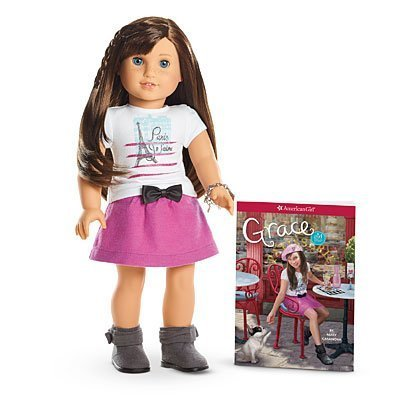 American Girl Grace - Grace Doll and Paperback Book with Pierced Ears and Earrings- American Girl of 2015
