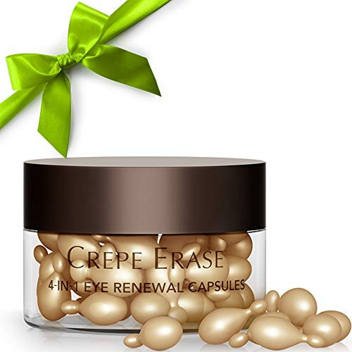 - Crepe Erase – 4-in-1 Eye Renewal Capsules – Hydrating Under Eye Plumping Serum – Infused with Hyaluronic Acid and TruFirm Complex – 30 Count – CS.2016