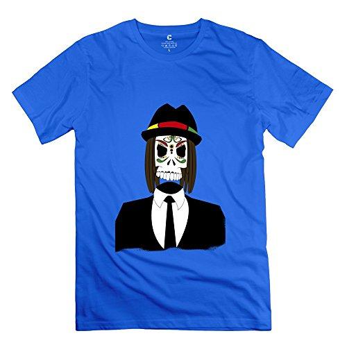 C-DIY Men's Tshirts Colors Reggae Skull M RoyalBlue