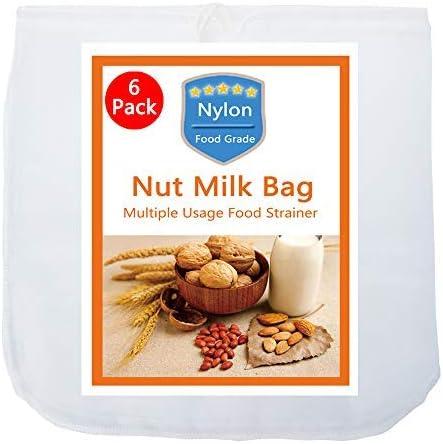 Nylon Mesh Straining Bag Jelly Jam Juice Food Nut Milk Filter Bag N3