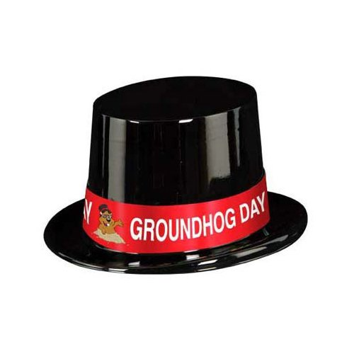 Groundhog Costumes (Black Plastic Topper w/Groundhog Day Band Party Accessory (1 count))