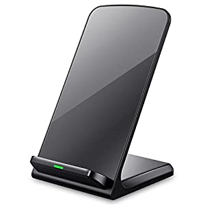 iPhone X Wireless Charger, Turbot 3-Coil Qi Wireless Charger Stand Pad for iPhone 8/8 Plus, iPhone X, Samsung Galaxy Note8, S8/S8 Plus/S7/S7 Edge/S6 Edge Plus, LG G6 and All QI-Enabled Devices