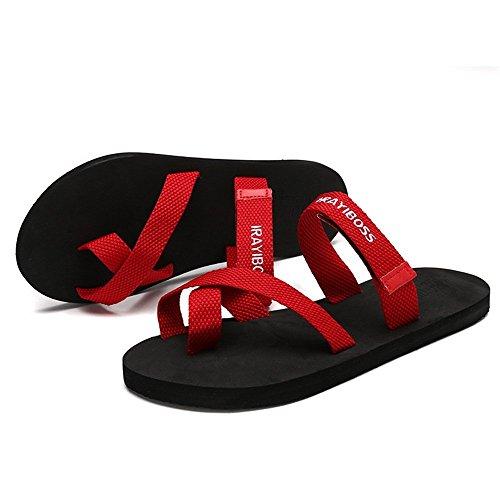 uomo white uomo Colore donna e flop shoes Nero piatta Scarpe da tallone 42EU dimensione per Black Pantofola Jiuyue con flip gWqvAa