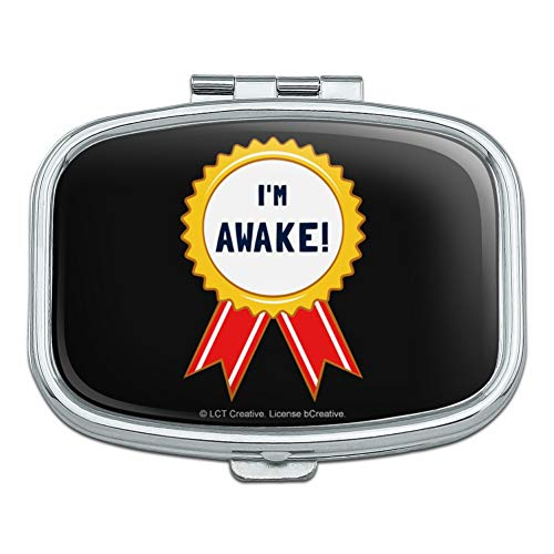 I'm Awake Award Funny Humor Rectangle Pill Case Trinket Gift Box