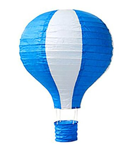 Birthday Party/Christmas/Easter/Mall Decoration Hanging Paper Lantern Hot Air Balloon 25cm(Blue)