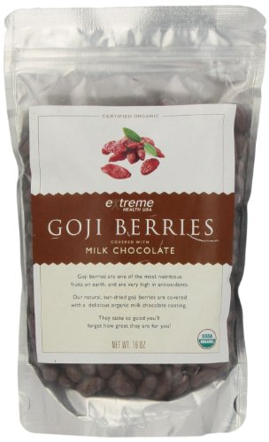 Extreme Health Usa Organic Goji Berries Covered with Milk Chocolate, 16-Ounce