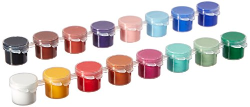 Delta Creative Paint Pots Set with Paint and Brush for Outdoors, 027050056 (16 Colors) - Creative Metal Kit