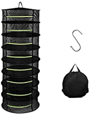 Herb Drying Rack, 8 Layer 2ft Mesh Dry Net Hanging Net Dryer for Garden Hydroponic Plant and Herb Seeds with 1pc S Hang Buckle and 1pc Storage Bag