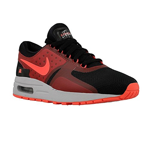 Nike Kid's Air Max Zero Essential GS, BLACK/BRIGHT CRIMSON-GYM RED, Youth Size 4.5 by NIKE