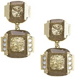 TRENDY FASHION JEWELRY FAUX JEWELED FRAMED EARRINGS BY FASHION DESTINATION
