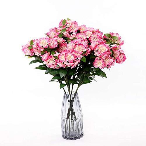 Amazon.com: TIANT Artificial Flowers, 5 Pcs Begonia Bouquets ...