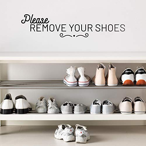 Vinyl Wall Art Decal - Please Remove Your Shoes - 5