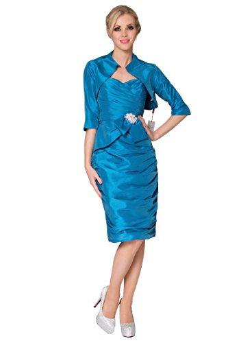del COJ SEXYHER honor damas con Bolero sin coctel de las la de chaqueta vestido 138T SkyBlue 1785 de tirantes ArZwgxqn0A