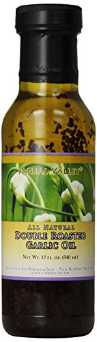 - Jansal Valley Double Roasted Garlic Oil, 12 Fl Oz