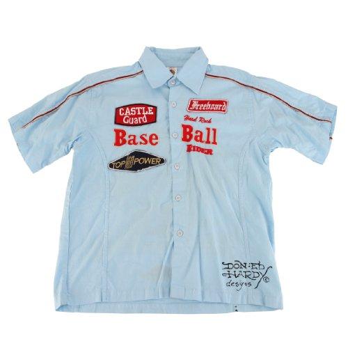 Ed Hardy Littls Boys' Toddlers & Kids Buttoned Shirt- Light Blue - 4/5