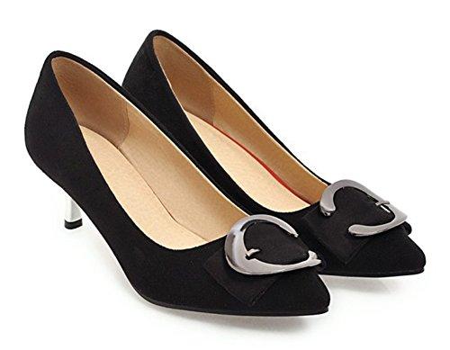 Femme Kitten Simple heel Noir Bride Aisun Escarpins Cheville Travail zqXxdF