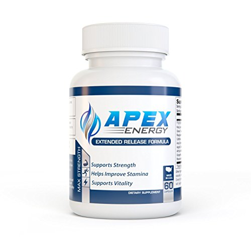 APEX ENERGY - Energy Pills - Caffeine, Green Tea, Apple Cider Vinegar, Acai Berry, African Mango, Grapefruit, Raspberry Ketones, Kelp, & Resveratrol