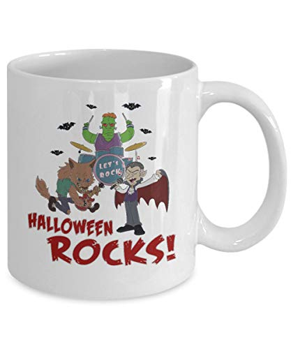 Halloween Mug, Music Teacher Mug, Music Teacher Gifts, Halloween Rocks, Coffee Mugs, Werewolf, Frankenstein, Vampire 11oz ()