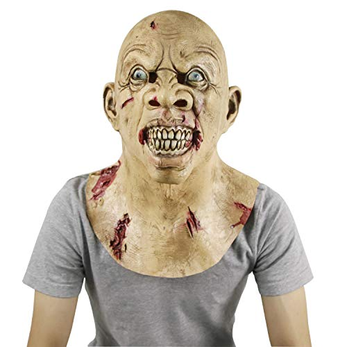 molezu The Walking Dead Mask, Scary Latex Mask, Halloween Novelty Costume Party Zombie Mask -