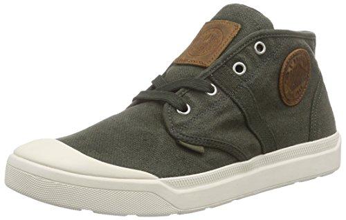 Palladium Pallarue Mid-lc Heren Groene Canvas Veters Sneakers Schoenen