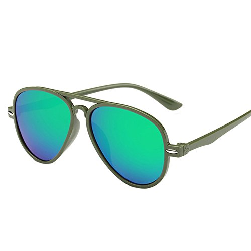 Rodeo Kids Aviator Style Sunglasses W/ Carry Pouch (Green, - Kid Friday Night Sunglasses