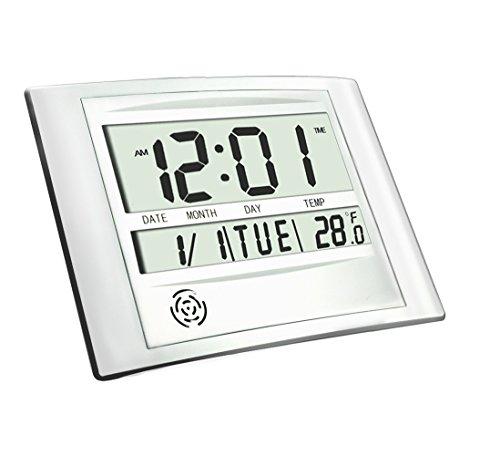 Digital Wall Clock HeQiao Decorative 12 Inch Desk Shelf