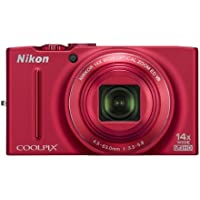 Nikon COOLPIX S8200 16.1 MP CMOS Digital Camera with 14x Optical Zoom NIKKOR ED Glass Lens and Full HD 1080p Video (Red) Explained Review Image