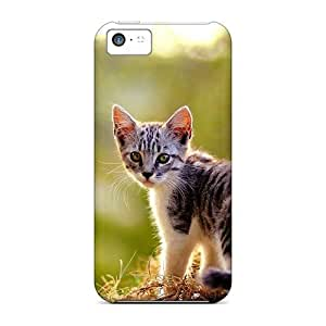 High-end Case Cover Protector For Iphone 5c(a Kitten On The Grass)