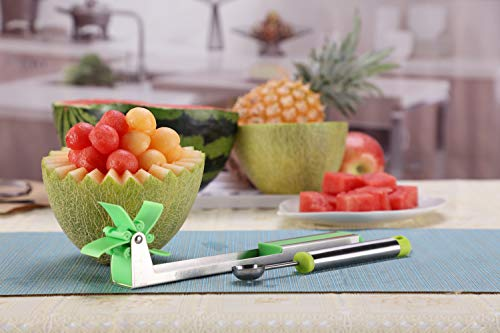 Yueshico Stainless Steel Watermelon Slicer Cutter Knife Corer Fruit Vegetable Tools Kitchen Gadgets by YUESHICO (Image #4)