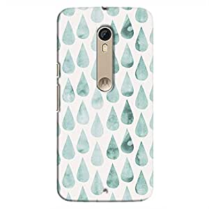 Cover It Up - White Cyan Drops Moto X Style Hard case