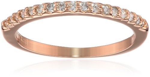 14k Rose Gold Diamond ''Stackable'' Band, Size 8 by Amazon Collection